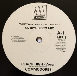 "Commodores - Reach High (12"") (Promo) (G/G+)"